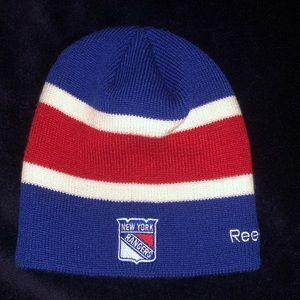 4f8963bd8ad533 New York Rangers Reebok NHL Reversible Beanie Hat